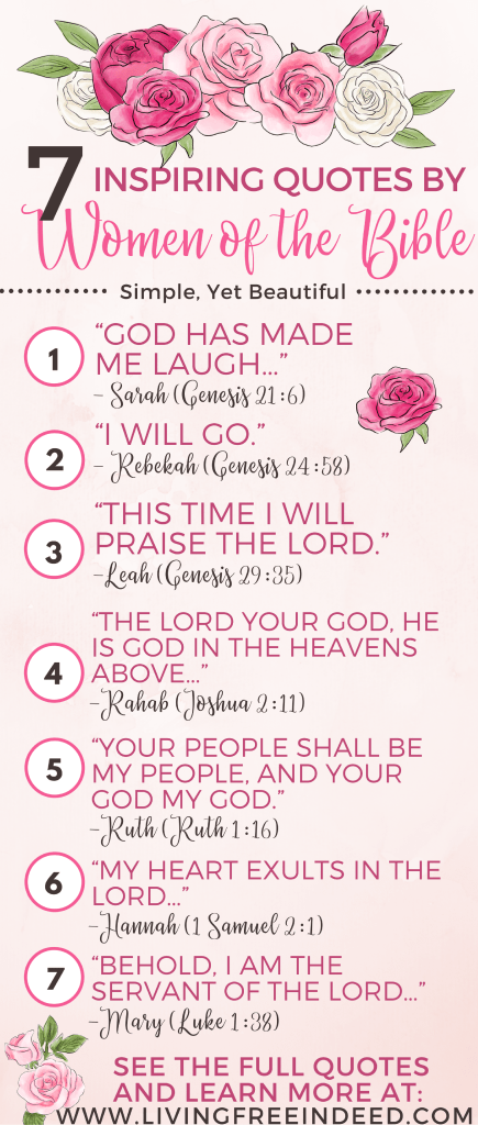 7 Quotes By Biblical Women That Will Inspire You - Free Indeed