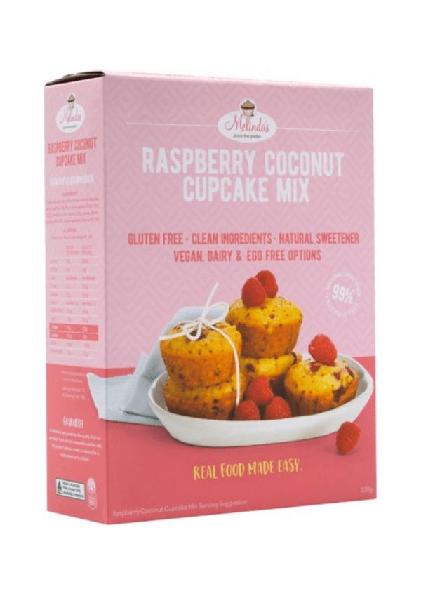 Melindas Gluten Free Goodies Raspberry Coconut Cupcakes Fructose Free Pre-Mix