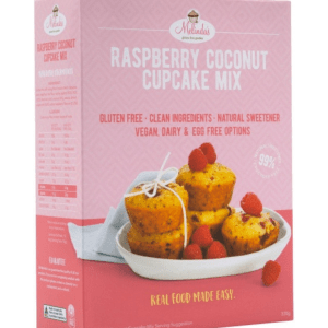 Melindas Gluten Free Goodies Raspberry Coconut Cupcakes Fructose Free Pre-Mix