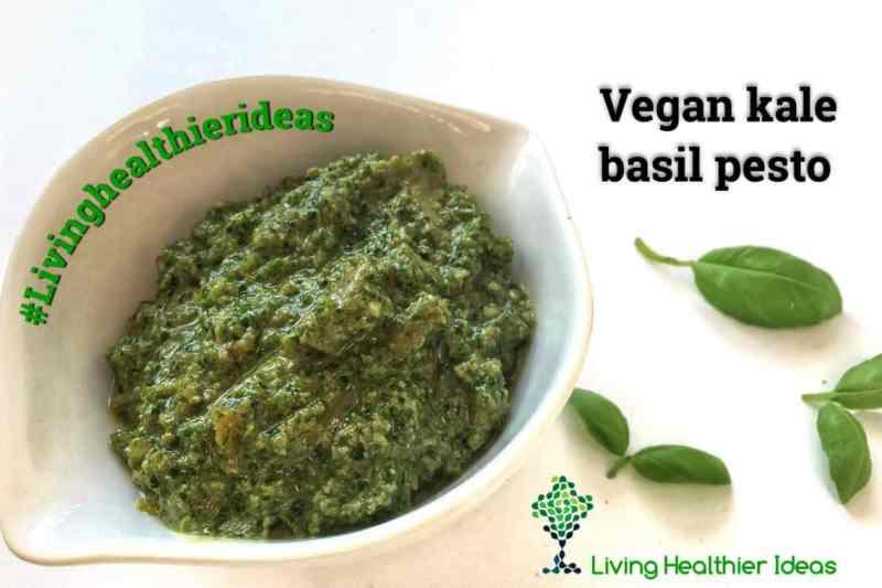DIY How to make vegan kale basil pesto