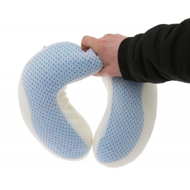 Deluxe Comfort Cool Gel Memory Foam UFO Travel Pillow
