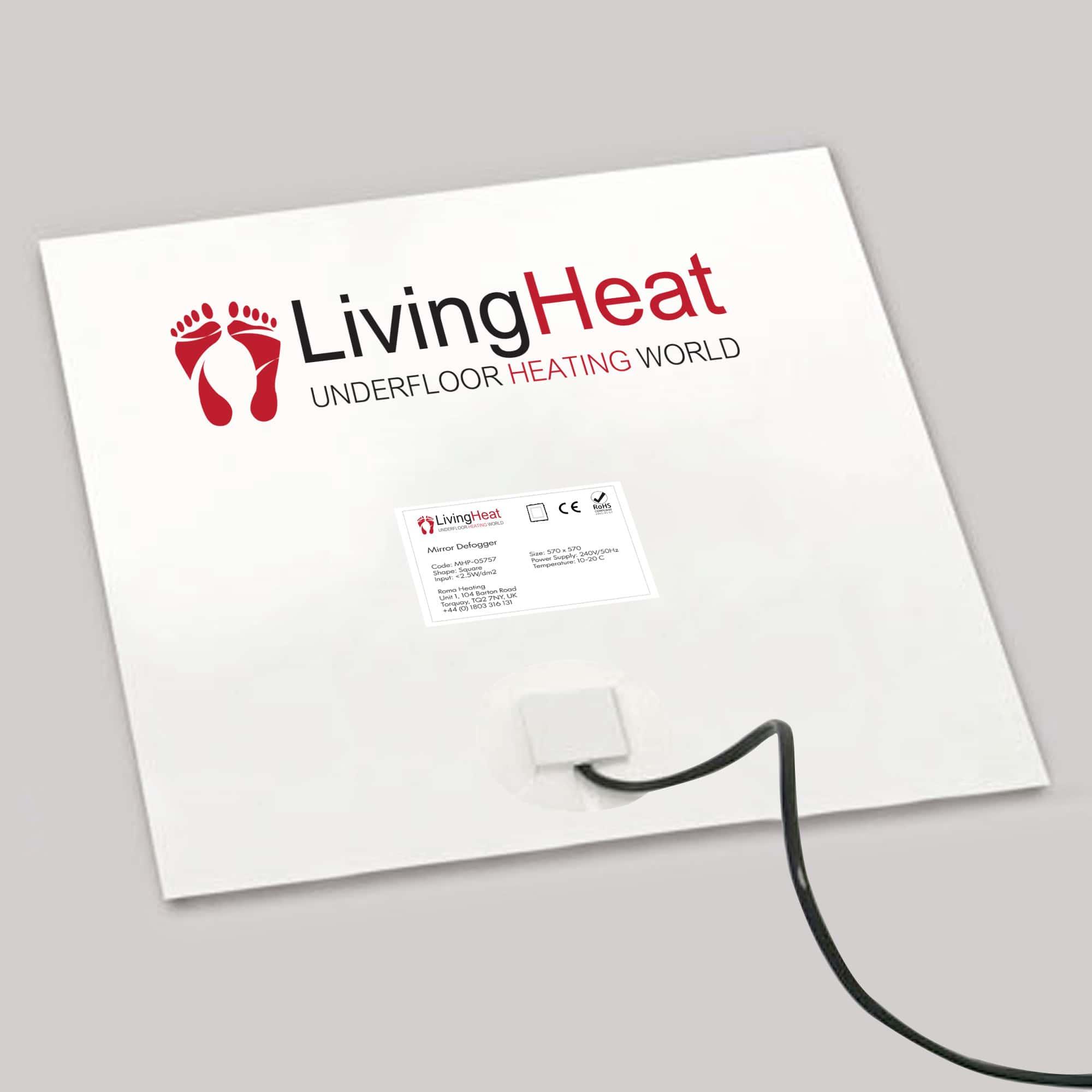 Bathroom Mirror Demister Demisting Heating Pad Steam Free