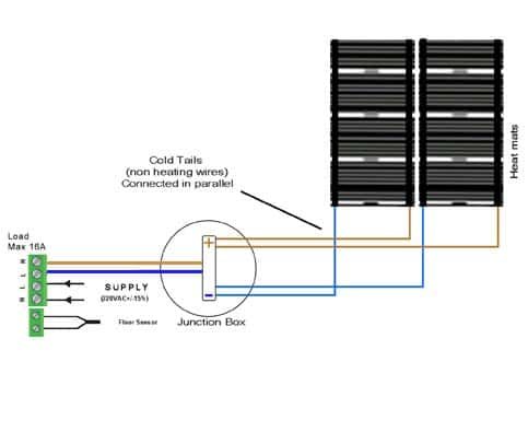 Wiring Diagram For Underfloor Heating Underfloor Heating Wiring