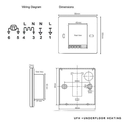 Underfloor Heating Digital Thermostat EBay
