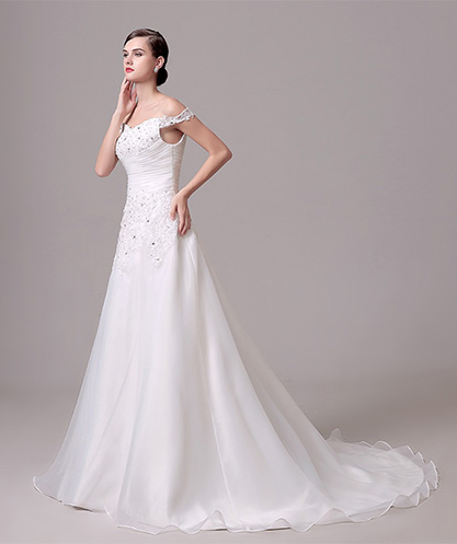 A-Line Off-Shoulder Bridal Wear
