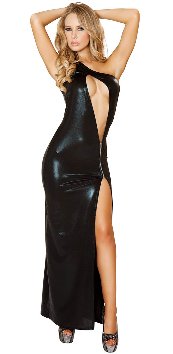 Cut Out Floor Length Gown