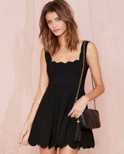 Trendy & Tempting Short Black Dress