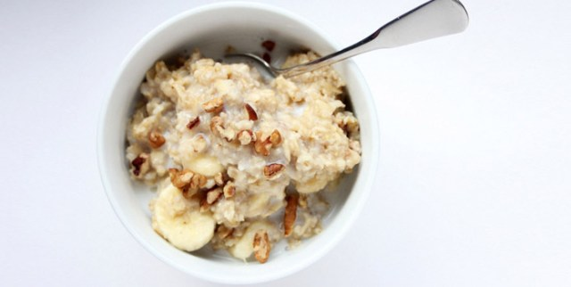 Soft Oats Cooked with Milk
