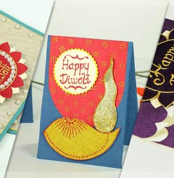 Handmade Diwali Cards
