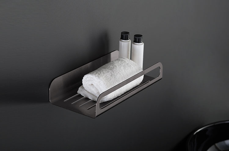 Shower Baskets  Black Chrome Bathroom Accessories