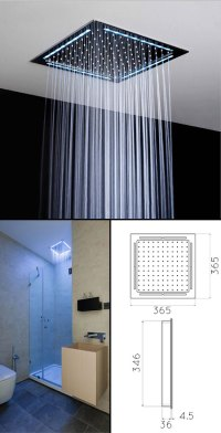Square Ceiling Shower Head & Shower Heads with Lights