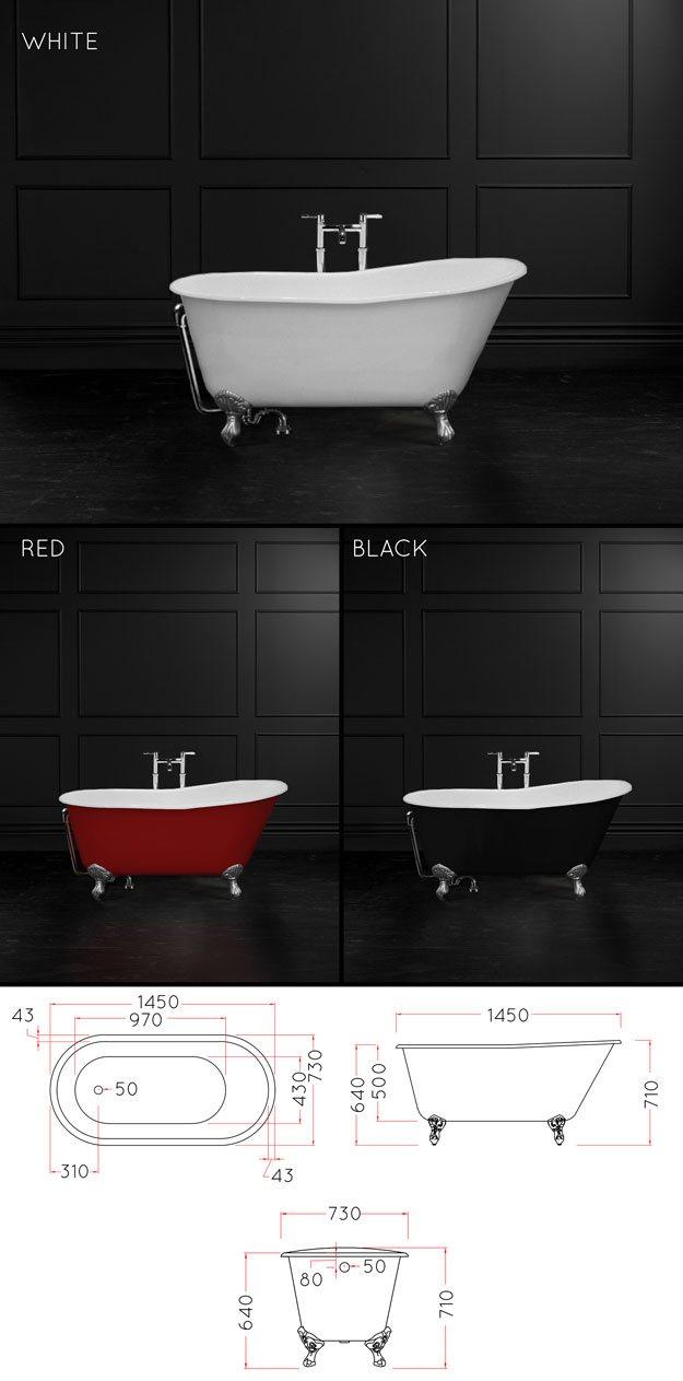 1400mm Roll Top Bath Cast Iron Slipper Baths Comfy