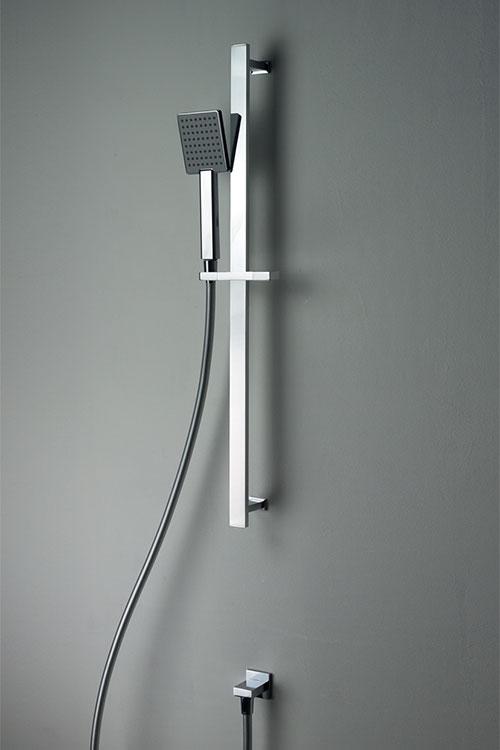 Adjustable Slide Rail Shower Head  Cubic Slim