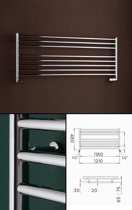 Low Heated Towel Rails  Under Window Towel Radiators