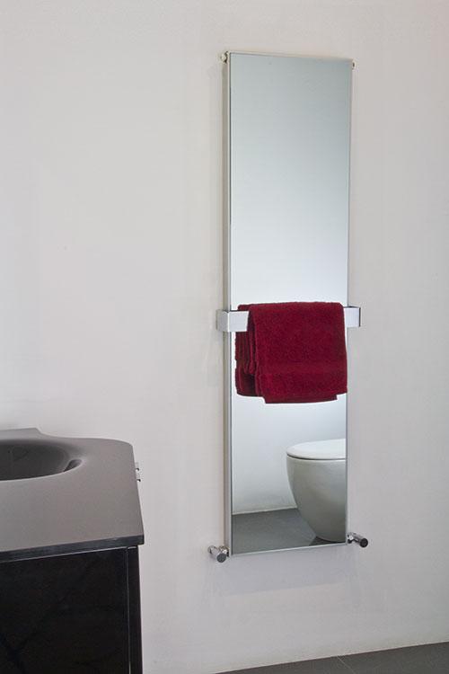 Heated Bathroom Mirror Radiator  Mirror Towel Warmer