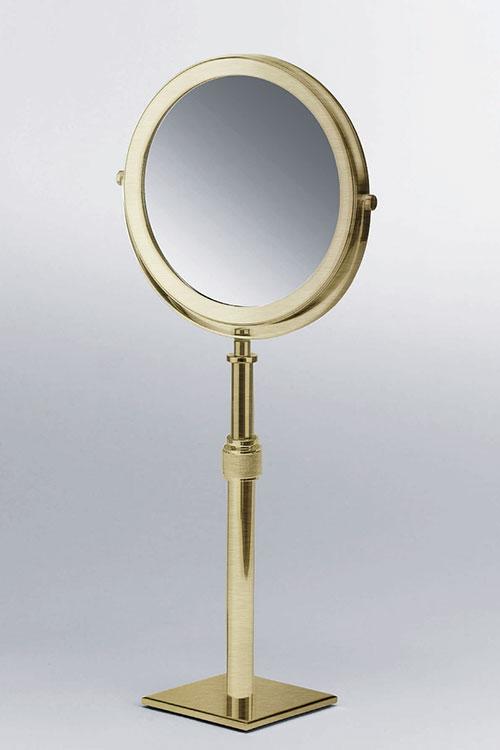 Magnifying Make Up  Shaving Mirror  Moca Brass Bathroom