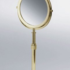 Designer Mirrors For Living Rooms Room Layout With Corner Tv Magnifying Make Up & Shaving Mirror | Moca Brass Bathroom ...