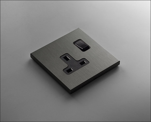 Grey Bronze Plug Sockets  Wall Sockets  Vogue