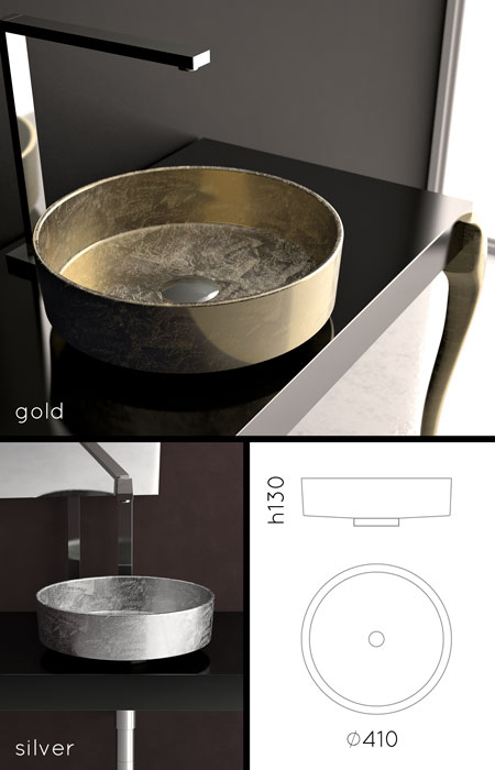 Gold Sinks Amp Gold Amp Silver Basins For Counter Tops