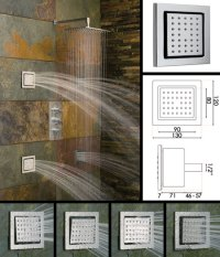 Large Square Body Jets & Shower Jets | Stainless Steel