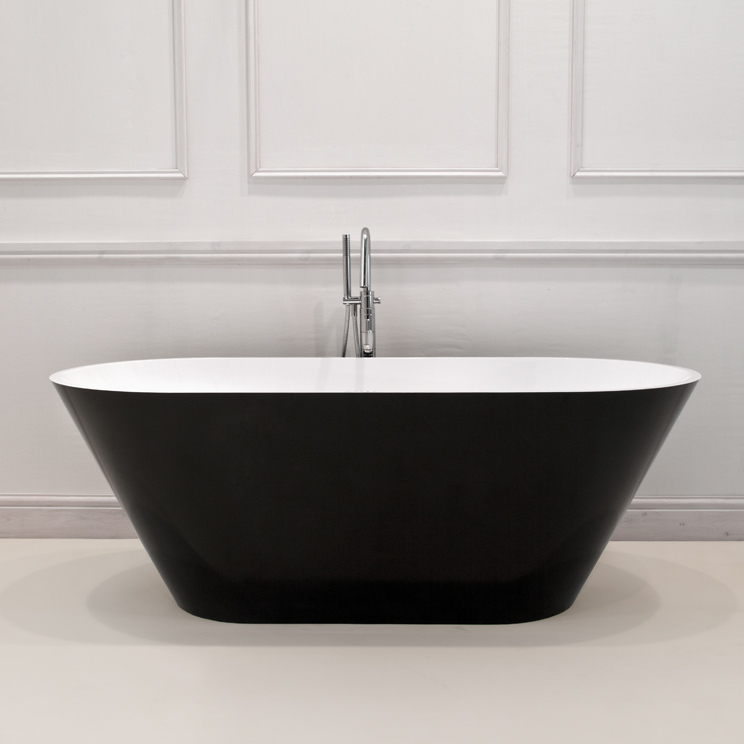 Vogue Gloss Black Bath  Black And White Modern Bath