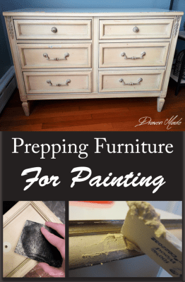 prepping furniture for painting diy prep