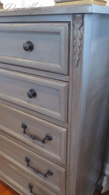 bronze gray dresser general finishes milk paint glaze
