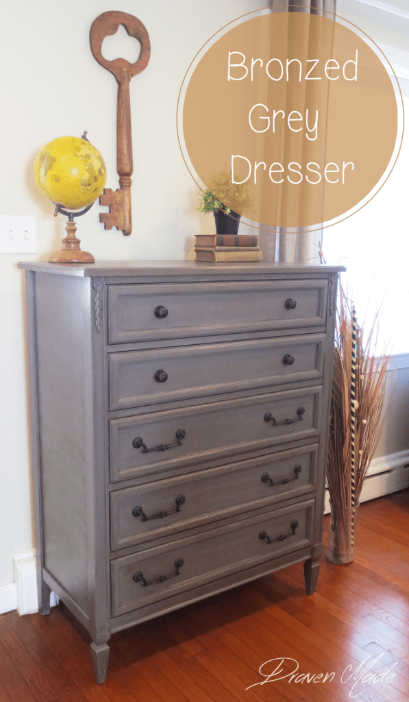 Adding a glaze to a piece you are working on is a very quick and easy way  to get more of an antiqued effect. When painting furniture I'm always  inspired by ... - How To Glaze Furniture: Bronze Gray Dresser Living In A Fixer Upper