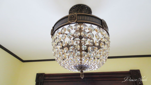 crystal ceiling light vestibule