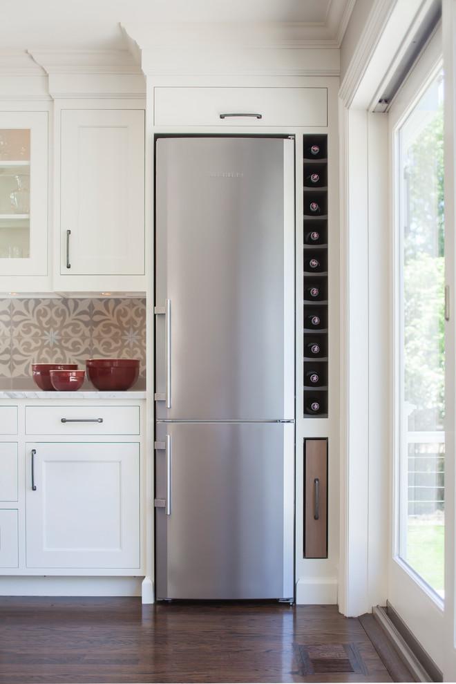 slim kitchen fridge design