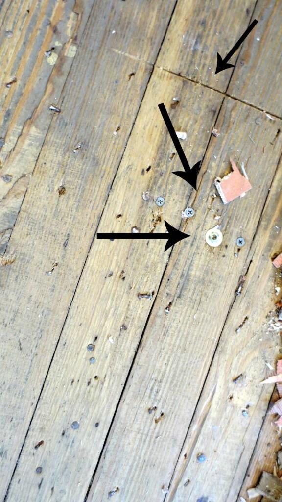 kitchen floor renovation original floor damage