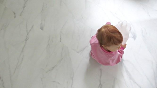 kitchen floor new carrara marble