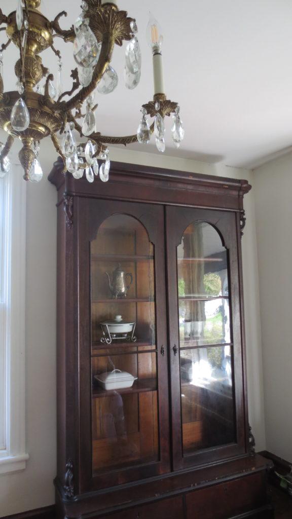 dining room antique empire bookcase