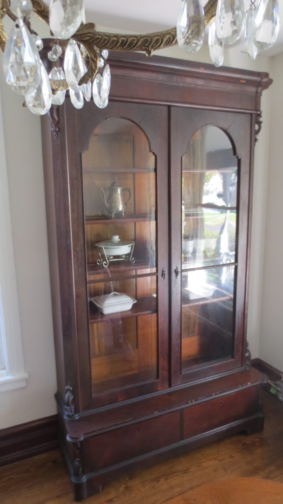 antique empire bookcase dining room living in a fixer upper