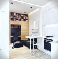 Small loft apartment with hidden office solution - Living ...