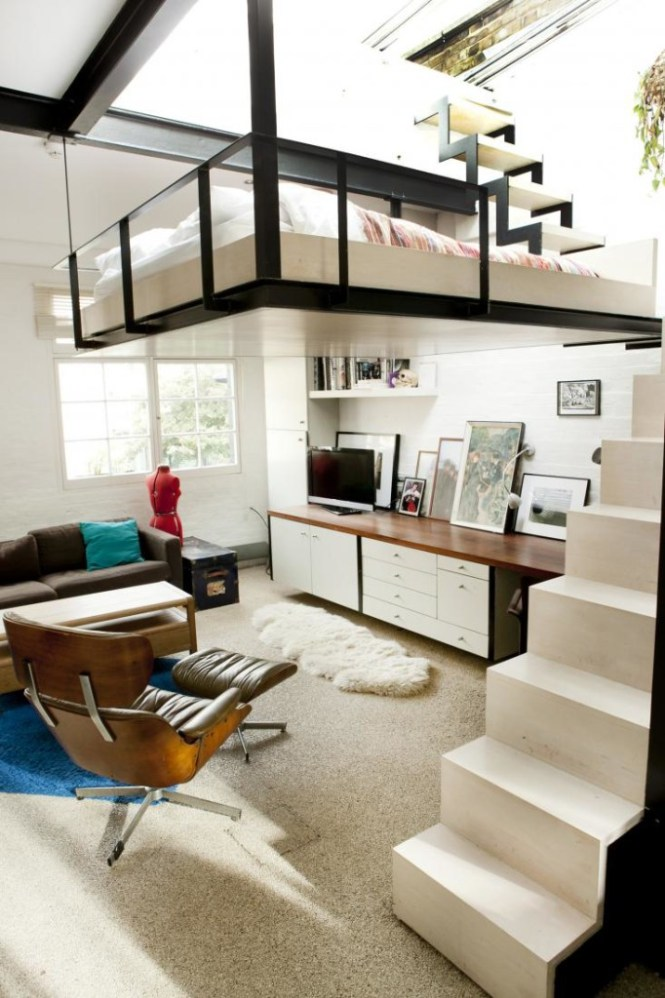 Hanging Loft Bed Apartment 4