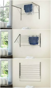 Wall Mount Accordion Clothes Drying Rack | Tyres2c