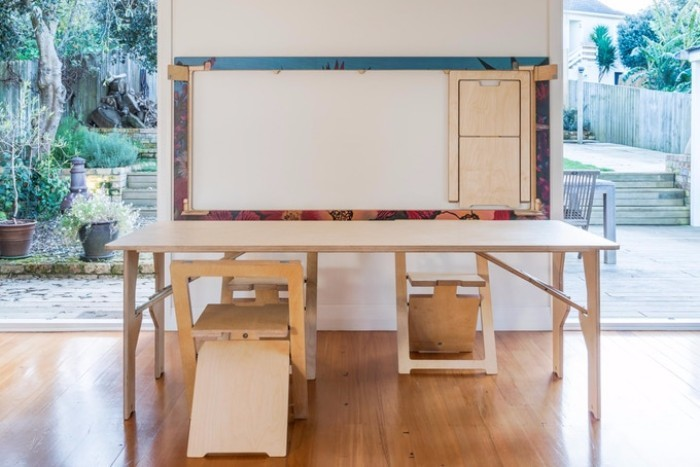 The worlds thinnest folding table and chair system can be