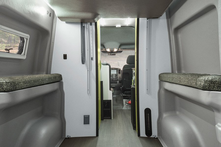 Winnebago introduces new motorhome with spacesaving power lift bed  Living in a shoebox