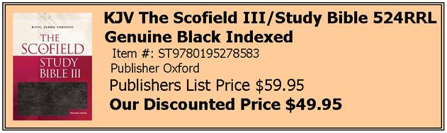 Scofield III Black Indexed