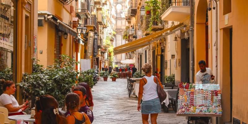 Scenic street in Palermo