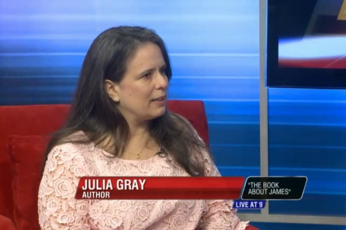 "Julia being interviewed on ""Live at 9"""