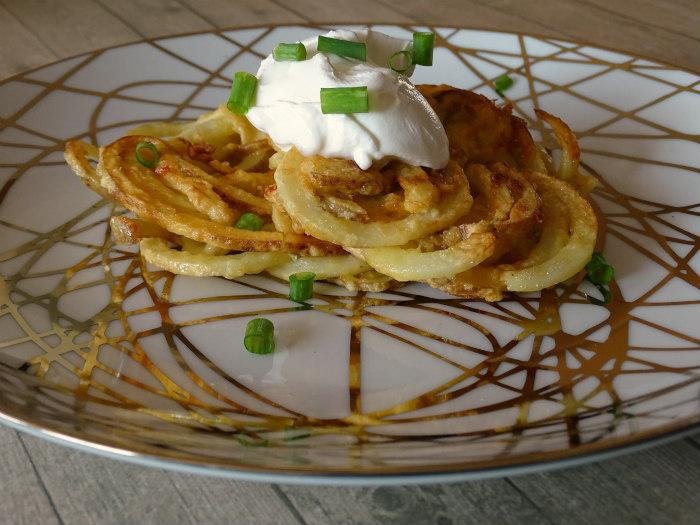 Spiralized Irish Potato Pancakes