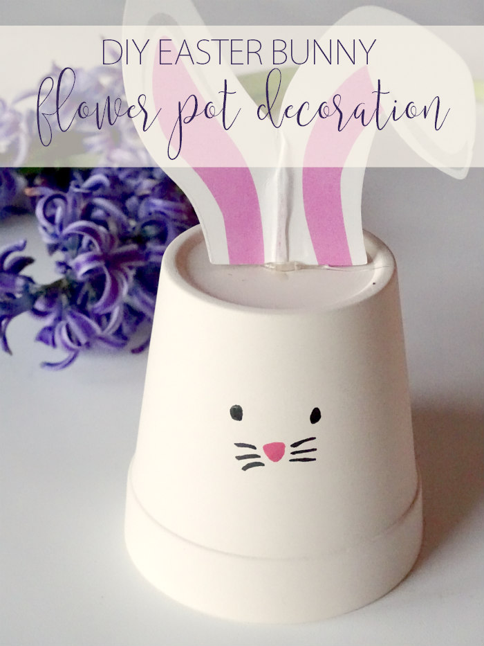 DIY Easter Bunny Flower Pot Decoration