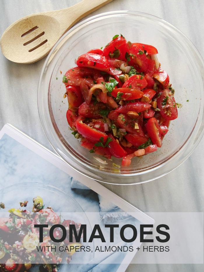 Tomatoes with Capers, Almonds, and Herbs