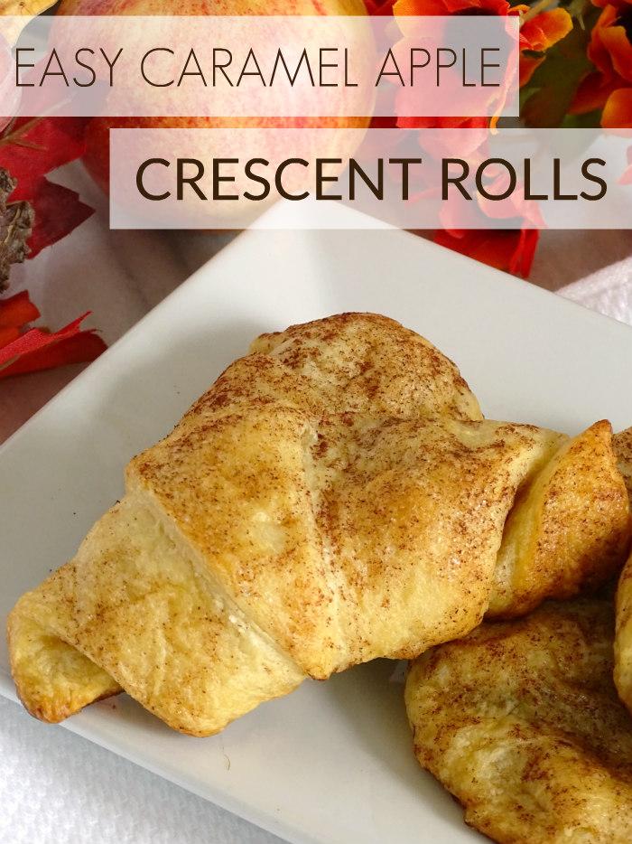 Easy Caramel Apple Crescent Rolls