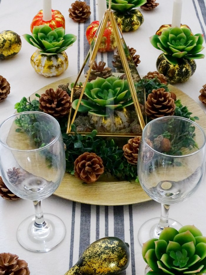 Thanksgiving succulent centerpiece