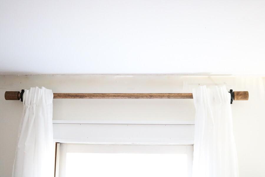 diy wood curtain rods west elm
