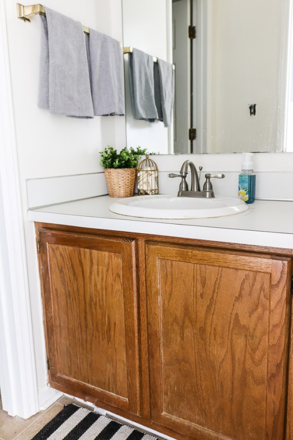 Sharing our guest bathroom BEFORE pics so we can all bask in its after glory (hopefully) soon!