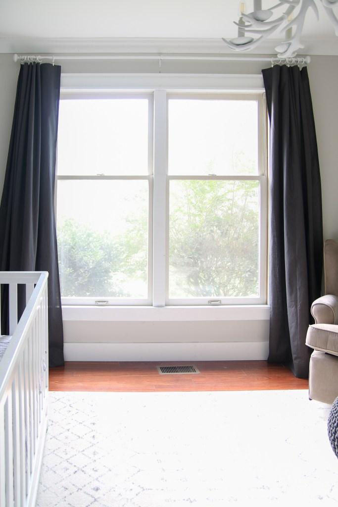 DIY blackout curtains no sew in nursery